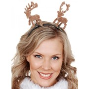Christmas Reindeer Head Boppers on Headband Pk 1