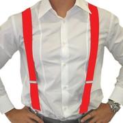 Adult Red Braces - Suspenders Pk 1