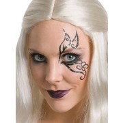 Tainted Fairy Makeup Kit - Eyelashes, Glitter Tattoo, Black Lipstick Pk 1