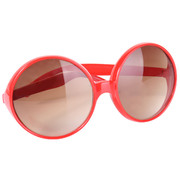 Red Hippy Glasses with Brown Lenses Pk 1