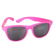Neon Pink 80s Glasses (Dark Lenses) Pk 1