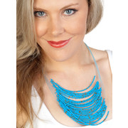 Aqua Beaded Necklace Pk 1