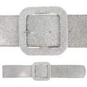 Silver Glitter Belt - Wide Pk 1 (1 Belt Only)