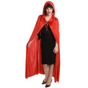 Adult Red Velvet Cape with Hood (Cape Only)