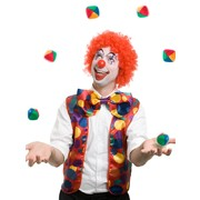 Adult Clown Costume Set Nose Vest Bow Tie Pk1