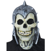 Adult Skull Invader with Helmet Full Face Latex Mask