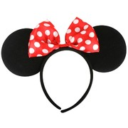 Minnie Mouse Ears on Headband with Bow Pk 1
