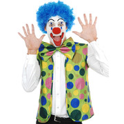 Adult Clown Costume Set (Nose, Vest & Bow Tie) Pk 1