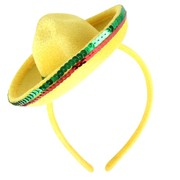 Mini Mexican Hat on Headband Pk 1