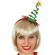 Christmas Tree on Spring Coil Headband Pk 1