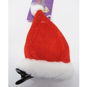 Mini Santa Hat on Clip Pk 1