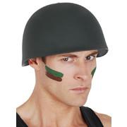 Green Plastic Soldier Helmet Pk 1