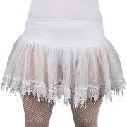White Net Petticoat Skirt with Lace Trim (Ladies Size 8-12) Pk 1