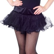 Black Tulle Skirt Adult Costume (Size 8-12) Pk 1
