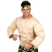 Adult Costume - Muscle Man Top (Medium) Pk 1