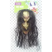 Adult Regina Witch Latex Mask with Hair Pk 1