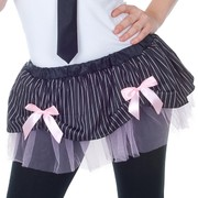 Adult Gangster Skirt With Bows (Size 8-10) Pk 1