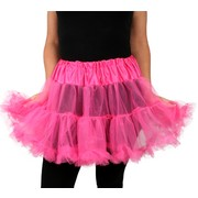 Hot Pink Layered Petticoat (Adult Size 8-12) Pk 1