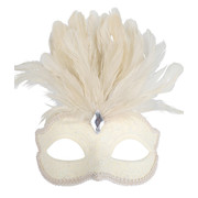 Cream Eye Mask with Feathers Pk 1