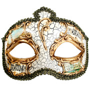 Cream & Gold Masquerade Mask - Salvatore Pk 1