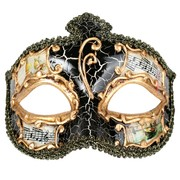 Black & Gold Masquerade Mask - Salvatore Pk 1