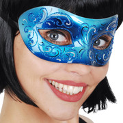 Blue Masquerade Eye Mask - Eleganza Pk 1