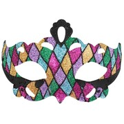 Coloured Glitter Masquerade Mask - Giovanna Pk 1
