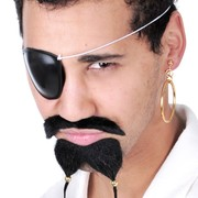 Pirate Eye Patch & Earring Pk 1