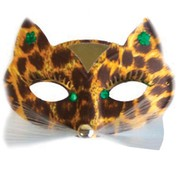 Brown Alley Cat Masquerade Mask Pk 1