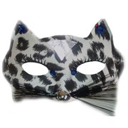 Black Alley Cat Masquerade Mask Pk 1