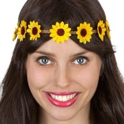 Yellow Daisy Chain Headband Pk 1