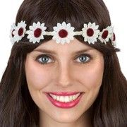 White Daisy Chain Headband (Adult) Pk 1