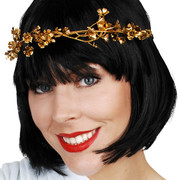 Gold Vine Flower Headband Pk 1