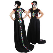Day of the Dead Dress with Train - Medium (Dress Only)