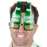 Green Beer Bottle Glasses Pk 1