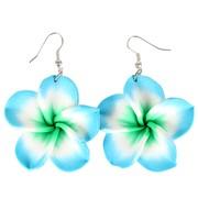 Blue Frangipani Earrings (For Pierced Ears) Pk 2