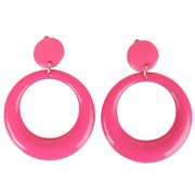 Neon Pink Clip-on Earrings Pk 2