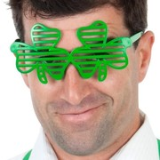 Green Shamrock Slated Glasses Pk 1