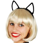 Black Cat Ears Headband Pk 1