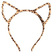 Leopard Print Cat Ears on Headband Pk 1