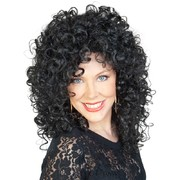 Black Curly Cher Wig Pk 1