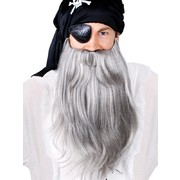 Beard & Mo Jumbo Pirate Set Grey Pk1 (Moustache & Beard Only)