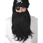 Beard & Mo Jumbo Pirate Set Black Pk1 (Moustache & Beard Only)