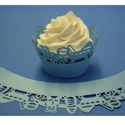 Baby Blue Cupcake Wrappers Pk 12