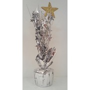 Centrepiece Weight and Pick - Gold Base and Star with Black & Silver Stars Pk1