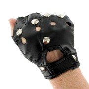 80's / Punk Party Gloves - Black Vinyl Pk2