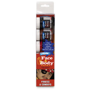 Cowboys & Pirates Face Paint Set Pk 1