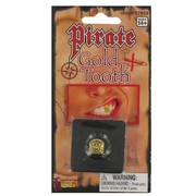 Pirate Skull & Crossbones Gold Tooth Cap Pk1