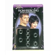 Nose Ring Punk Jewellery (Non Piercing) Pk 8