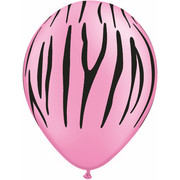 Balloons Latex AOP Neon Safari Assorted Pk10 BAP